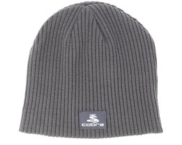 Reversible Grey/Orange Beanie - Cobra