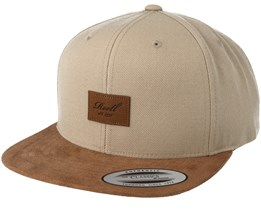 Suede 6-Panel Sand Snapback - Reell