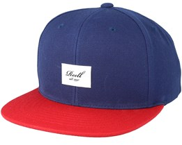Pitchout 6-Panel Light Navy/Red Snapback - Reell