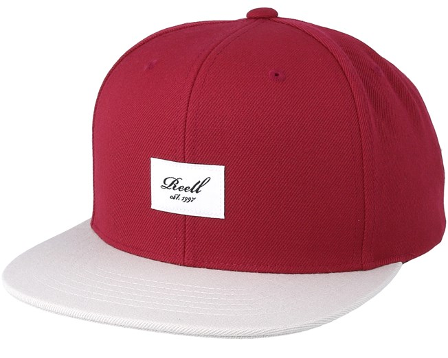 Pitchout 6-Panel Maroon Light Grey Snapback - Reell caps -  Hatstoreaustralia.com ae04d54d317c