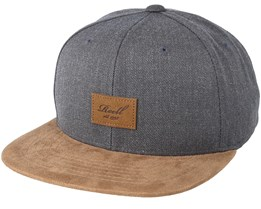 Suede Heather Charcoal Snapback - Reell