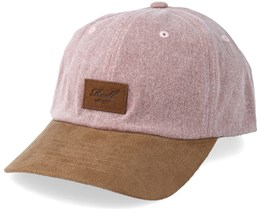 Curved Suede Pink Slub/Brown Adjustable - Reell