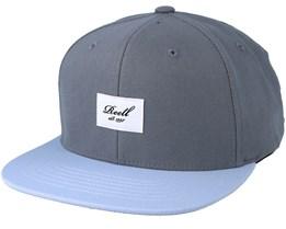 Pitchout Light Grey/Light Blue Snapback - Reell