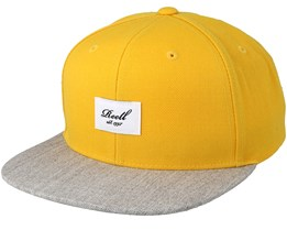 Pitchout Yellow/Heather Light Grey Snapback - Reell