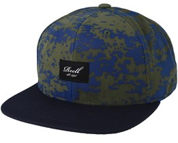 Pitchout Scale Camo/Dark Navy Snapback - Reell