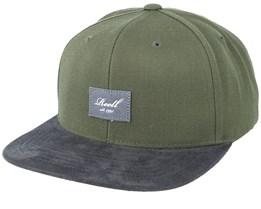 Suede Dark Green/Black Snapback - Reell