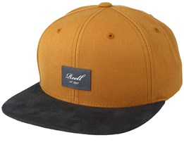 Suede Yellow/Black Snapback - Reell