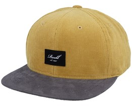 Suede Ribcord Yellow/Grey Snapback - Reell