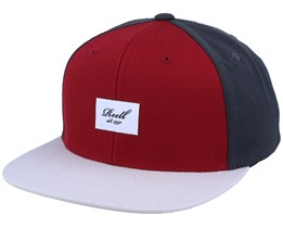 Pitchout Red/Dark Grey/Light Grey Snapback - Reell