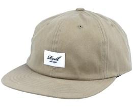 Flat 6-Panel Khaki Snapback - Reell