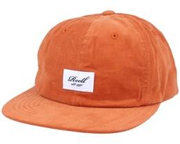 Flat 6-Panel Orange Ribcord Snapback - Reell