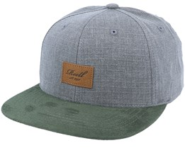 Suede Cap 140 Washed Grey Snapback - Reell