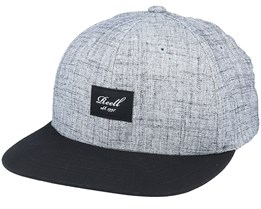 Pitchout Cap 140 Heather Grey / Washed Black Snapback - Reell