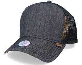 Hft Cap Linen 2014 Black Trucker - Djinns