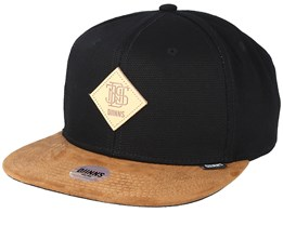Light Canvas Black/Brown Snapback - Djinns