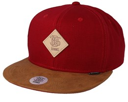 Light Canvas Wine/Brown Snapback - Djinns