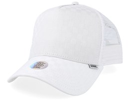 Cap Tie Check White Trucker - Djinns