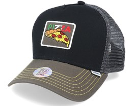 Hft Cap Food Pizza Black Trucker - Djinns