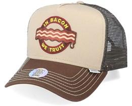 Trucker Cap Hft Food Bacon Khaki/Brown Trucker - Djinns