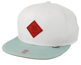 Super Twill White/Mint/Red Snapback - Djinns