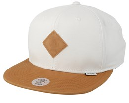 Super Twill White/Light Brown Snapback - Djinns