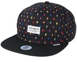 Wlu Woven Dots Black Snapback - Djinns