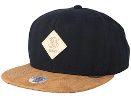6 Panel Cooltouch Black Snapback - Djinns