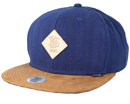 6 Panel Cooltouch Navy Snapback - Djinns