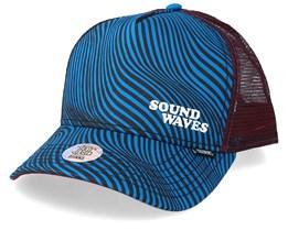 Hft Soundwaves Turquoise/Wine Trucker - Djinns