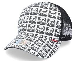 Hft Buddha Allover Black/White Trucker - Djinns