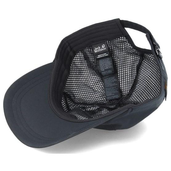 Texapore Baseball Cap Black Adjustable Jack Wolfskin