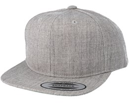 Kids Classic Heather Grey Snapback - Yupoong