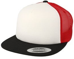 Black/White/Red Trucker - Yupoong