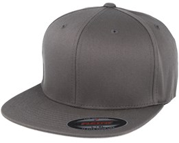 Flat Brim Dark Grey Fitted - Flexfit