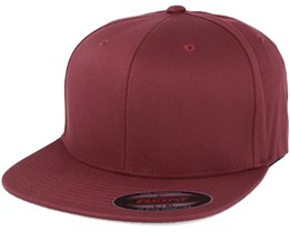 Flat Brim Maroon Fitted - Flexfit