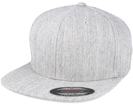 f44c4277 Flat Brim Heather Grey Fitted - Flexfit