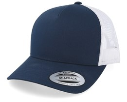 5-Panel Retro 2-Tone Navy/White Trucker - Yupoong