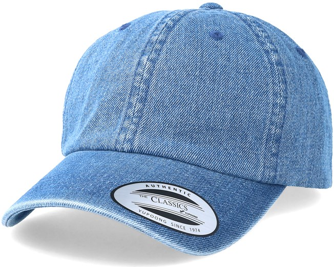 f2258fd0868 Dad Cap Washed Blue Adjustable - Yupoong cap - Hatstore.co.in