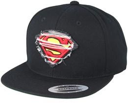 Superman Logo Black Snapback - Mister Tee