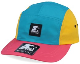 Multi Logo Patch Jockey Yellow/Gre/Pink 5-Panel - Starter