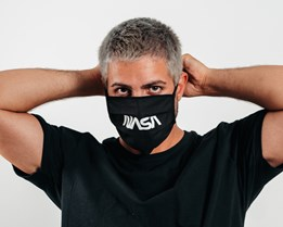 1-Pack NASA Black Face Mask - Headzone