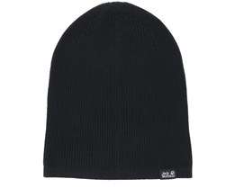 Feel Good Black Beanie - Jack Wolfskin