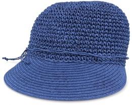 Paper Crochet Cap With Big Visor Ink Blue - Seeberger