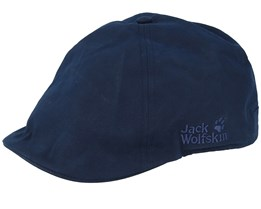 a80f96d59 Port Lincoln Night Blue Flat Cap - Jack Wolfskin