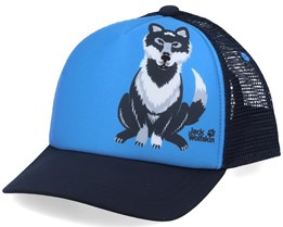 Kids Animal Mesh Sky Blue/Navy Trucker - Jack Wolfskin