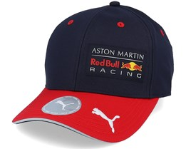 Kids Red Bull Racing Rp Cap Navy/Red Adjustable - Formula One