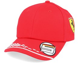 Kids Ferrari Vettel Cap Red Adjustable - Formula One