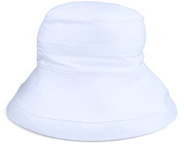 Cloche In Chambray Fabric White Bucket - Seeberger
