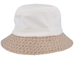 Material Mix Hat Linen/Sand Bucket - Seeberger