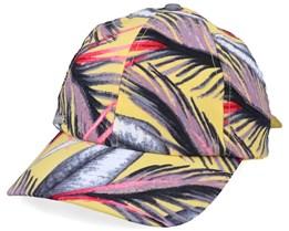 Baseballcap Print Fabric Vanilla/Wine Red Adjustable - Seeberger